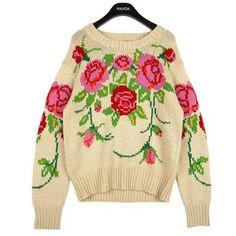 Rose Garden Embroidered Sweater FashionShop STYLENANDA