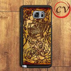 Skeleton Kissing Rose Samsung Galaxy Note 6 Case