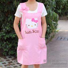 O novo olá olá Kitty Kitty avental pano bonito dos desenhos animados avental da cozinha avental de trabalho em Aventais de Casa & jardim no AliExpress.com | Alibaba Group