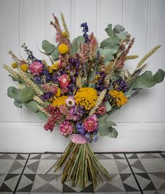Dried preserved flowers are perfect for Weddings and elopements. Scottish Flowers, Preserved Flowers, Second Weddings, How To Preserve Flowers, Flower Farm, Elopements, Wedding Bouquets, Scotland, Daisy