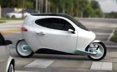 Lit Motors C-1: Electric Gyro Vehicle / Bike with two seats.