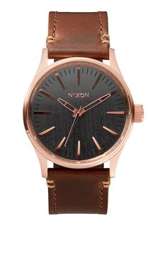 The Sentry 38 Leather. Doing more with less. Our inspiration for The Sentry 38, comes from the movement towards making an impact with understated size. Scaled down, this watch displays bold dials and a distinctive look with subtle proportions.