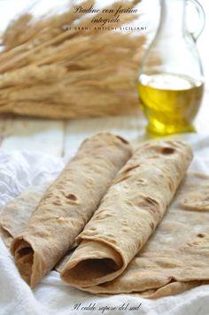 Piadine con farina integrale Farina Recipe, Best Italian Recipes, Crepes, Biscotti, Food And Drink, Healthy Recipes, Bread, Cooking, Ethnic Recipes