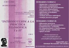 """Nueva edición de nuestros cursos de """"Iniciación a la práctica filosófica I y II"""""""