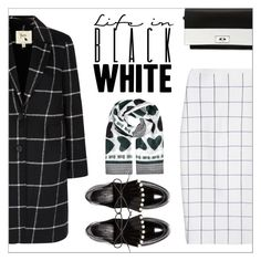"""Life in Black & White"" by amchavesj-1 ❤ liked on Polyvore featuring Victoria Beckham, Yumi, Robert Clergerie, McQ by Alexander McQueen, Givenchy and black"