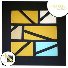 """Modern Block of the Month (BOM) Sew-Along: June  """"The Pieces"""" Block by Alyssa Lichner of Pile o' Fabric 