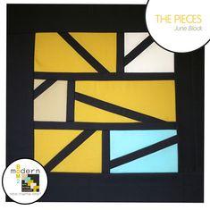 The Pieces Quilt Block - Modern BOM2 at Sew Mama Sew by Alyssa Lichner #quiltingtutorial #quiltblocks