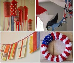 July 4th and Memorial Day Craft ideas - there is a printable pinwheel  cut-out,  Go To www.likegossip.com to get more Gossip News!