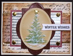 This card has been made for the sweet n sassy DT Special Christmas Blog hop. Tree, music and greeting stamps are from GKD new Stamp TV Kit.