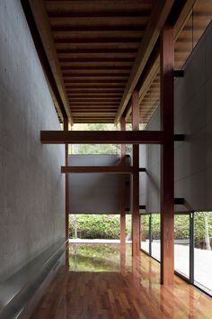high and low windows + shed structure with articulated wood beams and columns  Harmonie Hall by Takenaka Corporation Photography is by Tomoki Hahakura   ~via lucassupertramp.tumblr.com