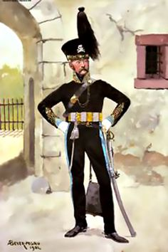 Officier d Etat Major des Hussards
