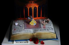 disney beauty and the beast cake