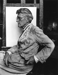 American 'Ashcan' painter John French Sloan by Arnold Newman ~Repinned Via artwild