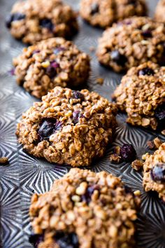 Good morning! Sunshine! Don't these cookies sort of look like blueberry muffin tops? They don't taste like muffin tops at all, but the resemblance makes me happy. You know what else makes me happy? They'reactually pretty good for you with zero refined sugar, plenty of wholesome oats, almond butter, and fruit. In fact the only …