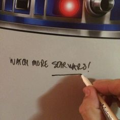 A true Star Wars collector piece. Giant R2-D2 dry erase wall graphic! Peel, Stick and Write. http://bit.ly/1WELltB