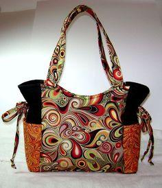 Handmade Purse, Handbag, Purse, Fabric Purse, Medium Handbag OOAK Artsy HP10. $75.00, via Etsy.:
