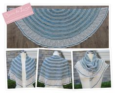 This is the Clair de Lune Shawl done in Madelinetosh Tosh Sock, colors Cove  and Paper. It differs slightly from the original version with a few more  contrasting stripes thrown in. I will be selling these kits at Vogue  Knitting Live Pasadena, April 17-19.  This Thursday, March 26th at 9:00 am Pacific Time I am honored to be the  featured guest on Marly Bird's podcast, The Yarn Thing. Please tune in!  For those of you in the SoCal area, the LA Yarn Crawl is happening March 26  - 29. I…