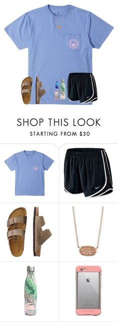 """75 degrees today!!!!! ☀️☀️☀️"" by mae343 ❤ liked on Polyvore featuring NIKE, TravelSmith, Kendra Scott, S'well and LifeProof"
