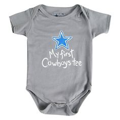 Dallas Cowboys Infant My First Tee Bodysuit | Infant | Kids | Cowboys Catalog | ShopCowboys