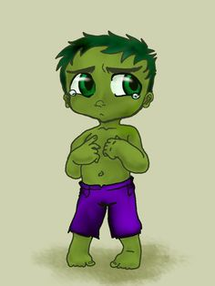 Sad Baby Hulk 1 by sharorama.deviantart.com on @DeviantArt