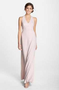 Dessy Collection Back Cutout Crepe Gown available at #Nordstrom