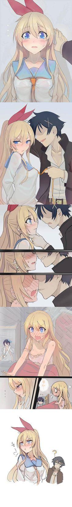Haha, Raku in her dream so aggresive