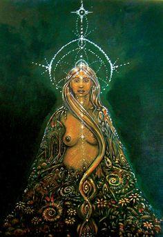 """Para os andinos, Pachamama é uma deusa, a Mãe Terra. A palavra """"Pacha"""" originalmente significa universo, mundo, lugar, tempo, enquanto que """"mama"""" significa mãe. É a geradora de abundância e de tudo que na terra existe. É a vida, as estações, a fecundidade, é o ciclo da vida, da morte, do renascimento."""
