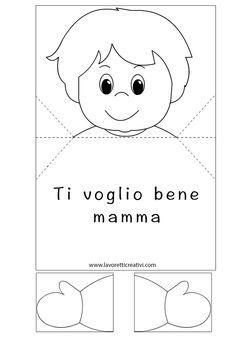 BIGLIETTO D'AUGURI POP UP Biglietto pop up con bambino che apre le braccia da regalare alla vostra mamma per il giorno della sua festa. Biglietto con bambi