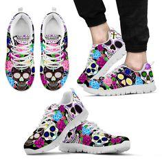 Vibrant Sugar Skull Sneakers