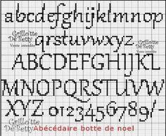 back stitch alphabet charts | Un bellissimo abecedario tutto da ricamare! schema pronto da stampare ...