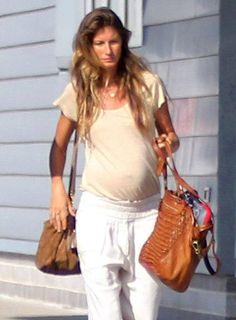 #Pregnant model Gisele Bundchen