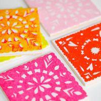 DIY Papel Picado Coasters