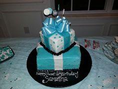 Sweet 16 TIFFANY BLUE birthday cake!