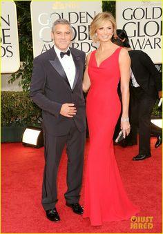 George Clooney & Stacy Keibler - Golden Globe Awards 2012