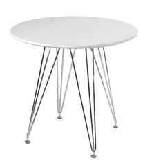 Mod Made Paris Tower Dining Table Top Finish: White