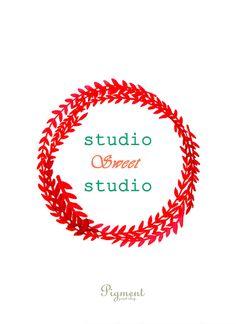 Studio Sweet Studio - watercolor illustration print, printable art, instant download