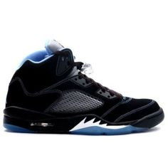 Air Jordan 5 (V) Retro LS - White - Black University Blue were considered  that is contour most artistic one section, the smooth shoes.