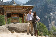 Pin for Later: Les 63 Meilleures Photos de Kate et William Prises Depuis Leur Mariage  Bhoutan, Avril 2016.