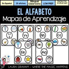 Spanish Alphabet Posters - Afiches del Alfabeto en Español