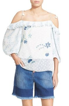 SEE BY CHLOÉ Floral Print Off The Shoulder Top. #seebychloé #cloth #