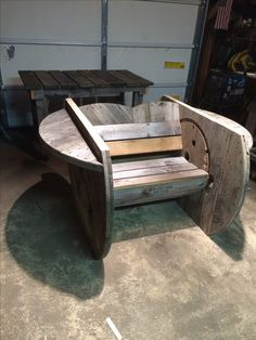 No scrap cable spool chair.