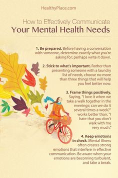 Psychology : Psychology infographic and charts   Communicating your mental health needs ca