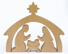 This wooden Nativity set would make a great gift for children and adults. The set is handcrafted of natural wood (beech tree) and finished with