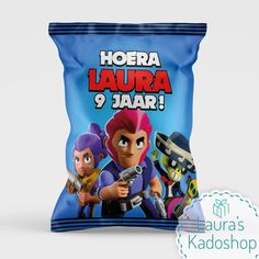 Chips wikkel - Brawl Stars | Laura's Kadoshop #trakteren #traktatie #chipswikkel #brawlstars Chips, Frosted Flakes, Monsters, Cereal, Potato Chip, Potato Chips, Corn Flakes, Breakfast Cereal