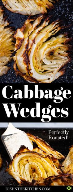 Perfectly roasted cabbage wedges are incredibly easy and delicious. Enjoy this unsung hero of the vegetable world in a new and tasty way. #roastedcabbage #cabbage #sidedishes #roastedvegetables Best Side Dishes, Healthy Side Dishes, Vegetable Side Dishes, Side Dish Recipes, Easy Dinner Recipes, Easy Meals, Simple Recipes, Lunch Recipes, Vegetarian Cabbage