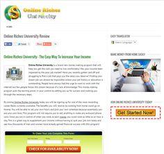 online riches university - Will this online University make you rich beyond your wildest dreams?  Read the review to find out...   http://howtoearnalivingusingtheinternet.com/online-riches-university-scam/