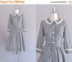 MEGA SALE... 45% OFF... vintage 1950s dress  by PickledVintage