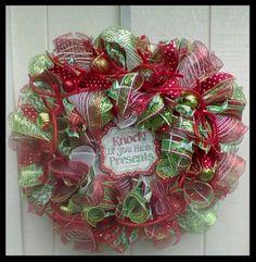 CHRISTMAS HOLIDAY WINTER  DECO MESH  WREATH   - Free Shipping #DecoMesh
