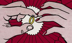 Detail of The Ring (Engagement) (1962). Photograph: Professional Graphics/Stefan T Edlis Collection © Estate of Roy Lichtenstein/DACS 2012