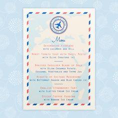 Travel Ticket travel themed wedding menu - The Leaf Press Wedding Menu Cards, Wedding Stationery, Wedding Invitations, Wedding Reception Tables, Wedding Day, Toddlers And Tiaras, Travel Tickets, Ticket Design, Wedding Abroad